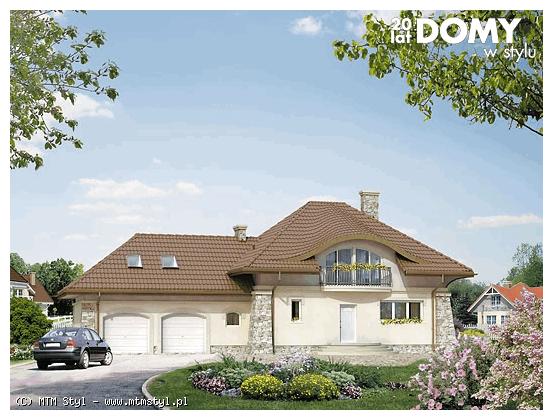 dom z poddaszem - projekt